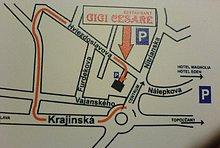 Mapa ako sa knám dostanente