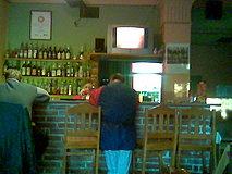 Belfast pub - barový pult