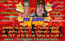 Pozvánka od DUO SERVUS-Tanečná zábava